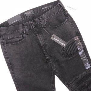 PacSun Jeans - PacSun black skinny with rib patches